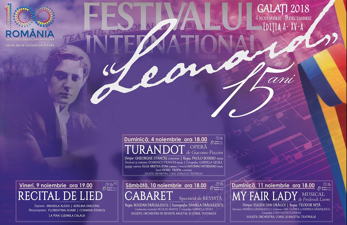 """Ediție aniversară – 15 ani de """"Leonard"""" 2018"""